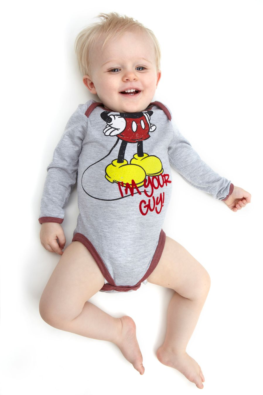 Boy`s Mickey Mouse `Headless` babygrow