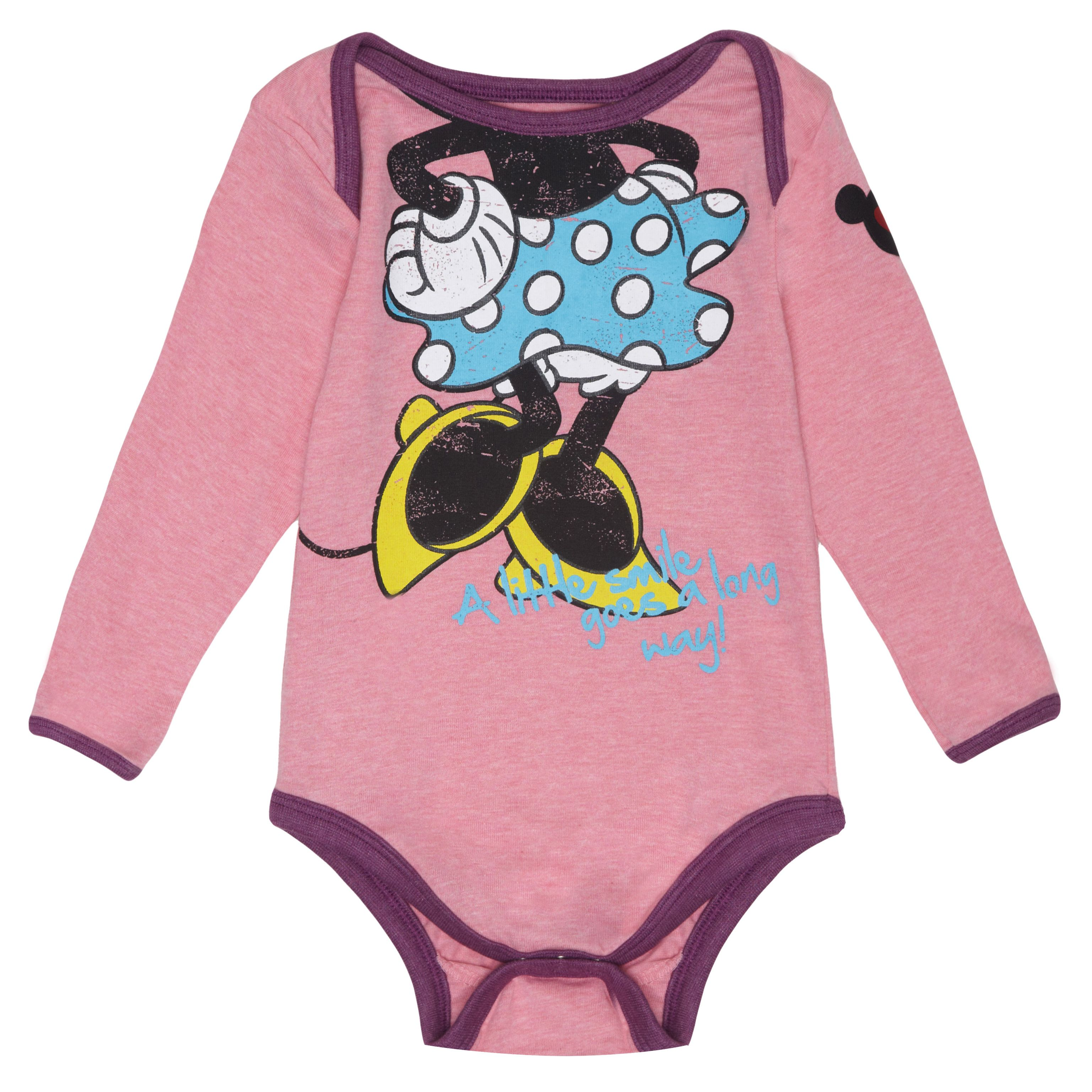 Girl`s Minnie Mouse `Headless` Babygrow