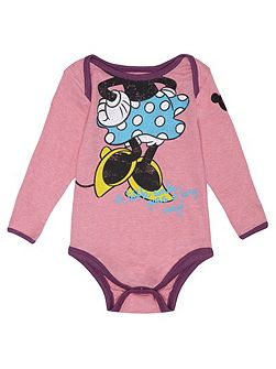 Girls Minnie Mouse Headless Babygrow
