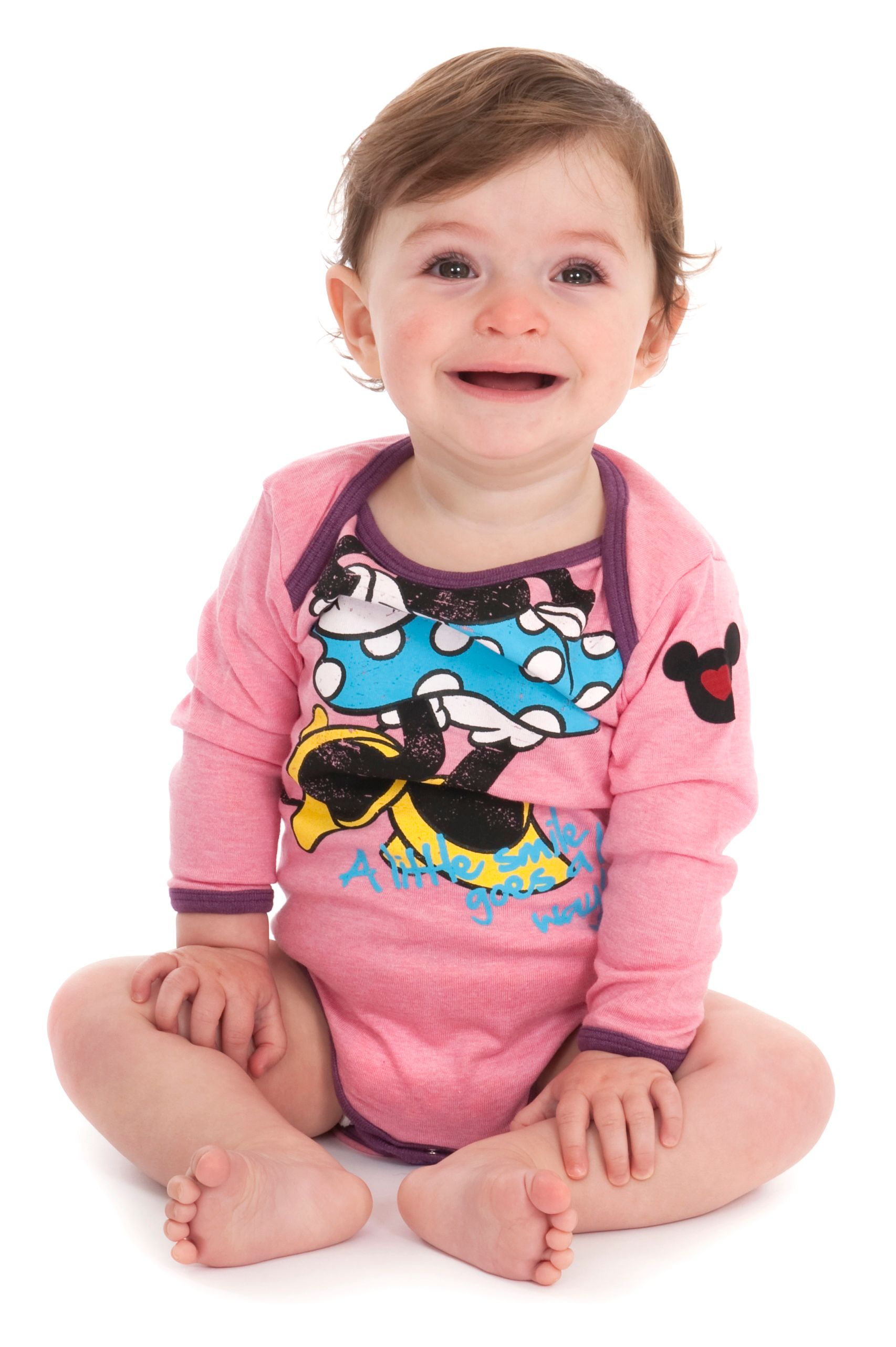 Girl`s Minnie `Headless` Babygrow