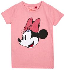 Girls minnie glitter bow t-shirt