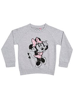 Fabric Flavours Girls Minnie Mouse Sweatshirt