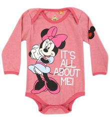 Baby girls minnie all about me babygrow