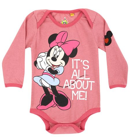 Fabric Flavours Baby girls minnie all about me babygrow