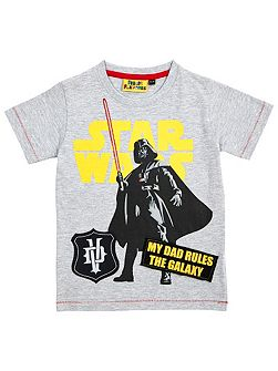 Boys star wars my dad rules t-shirt