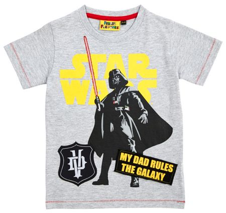 Fabric Flavours Boys star wars my dad rules t-shirt