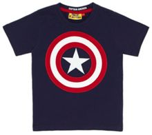 Fabric Flavours Boys Captain America Shield T-Shirt