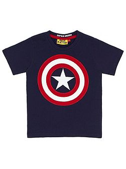 Boys Captain America Shield T-Shirt