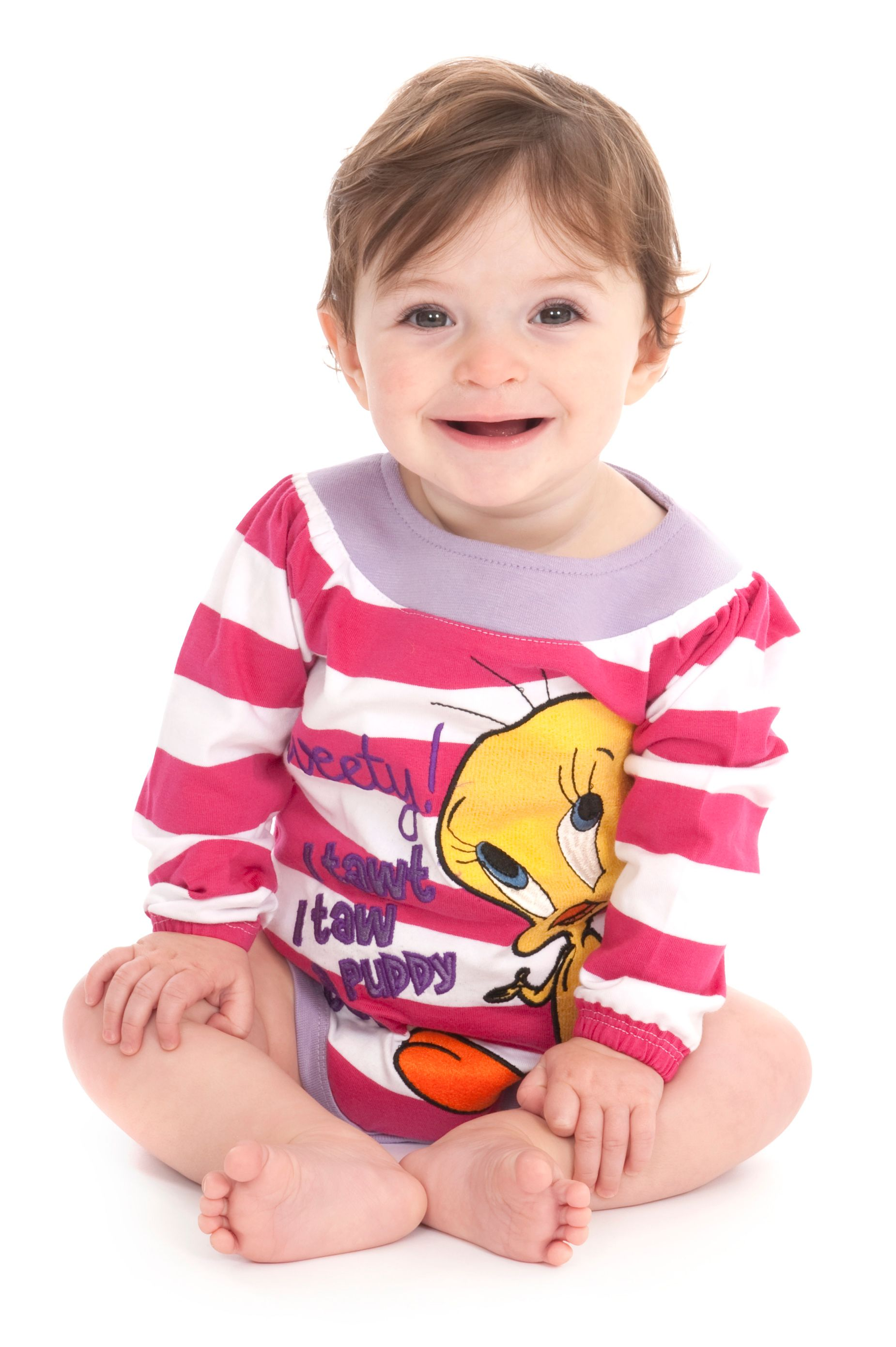 Girl`s Tweety Pie babygrow