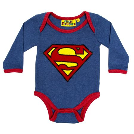 Fabric Flavours Baby boys Superman logo babygrow