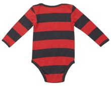 Boys Dennis Menace marl stripe babygrow