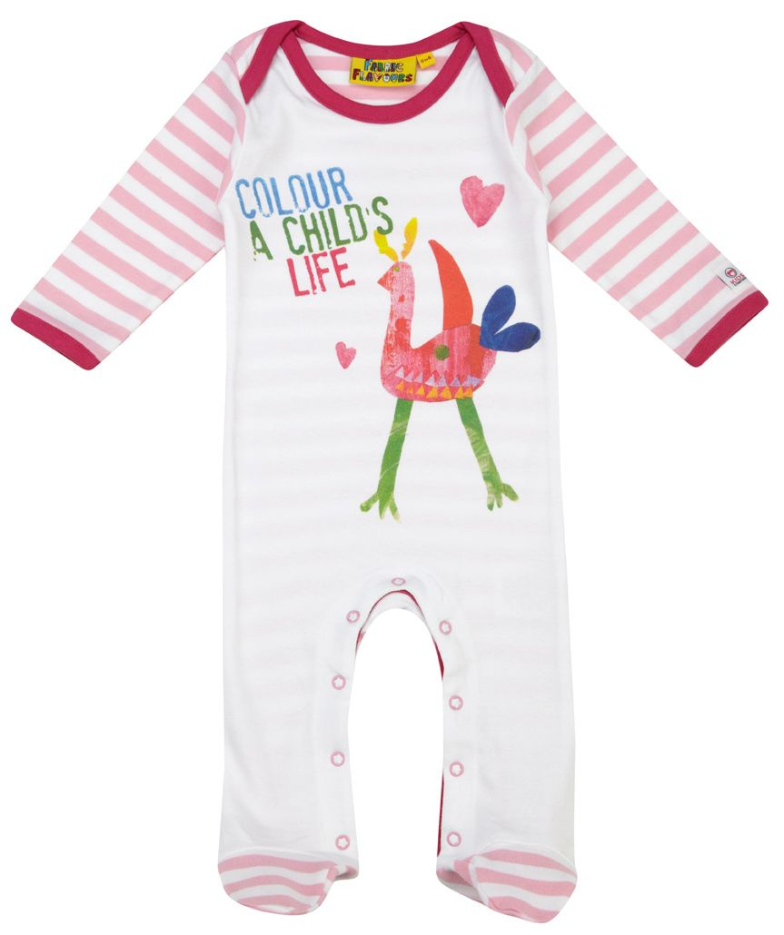 Girl`s Kids Company `Bird` babygrow