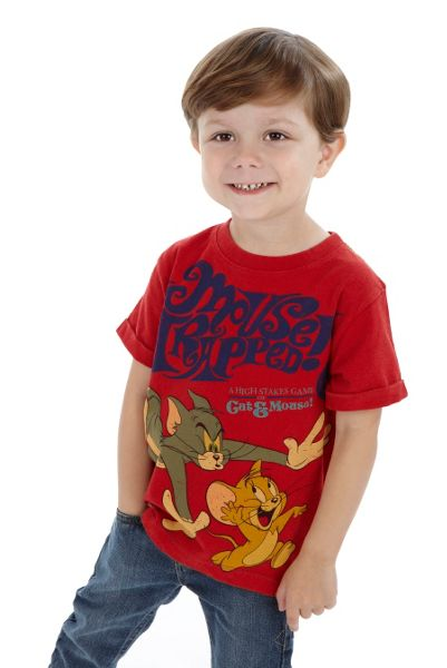 Fabric Flavours Boys Tom and Jerry Mouse Trapped T-Shirt