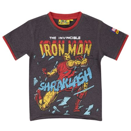 Fabric Flavours Boys Iron Man T-Shirt