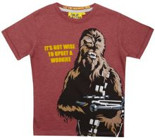 Fabric Flavours Boys Star Wars Chewbacca T-shirt