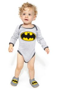 Fabric Flavours Baby Boys Batman Bodysuit
