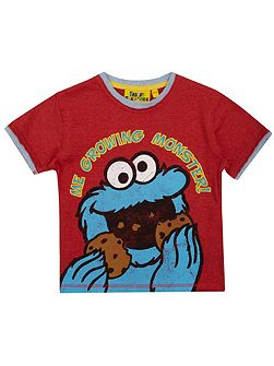 Fabric Flavours Boys Cookie Monster Growing Monster T-Shirt