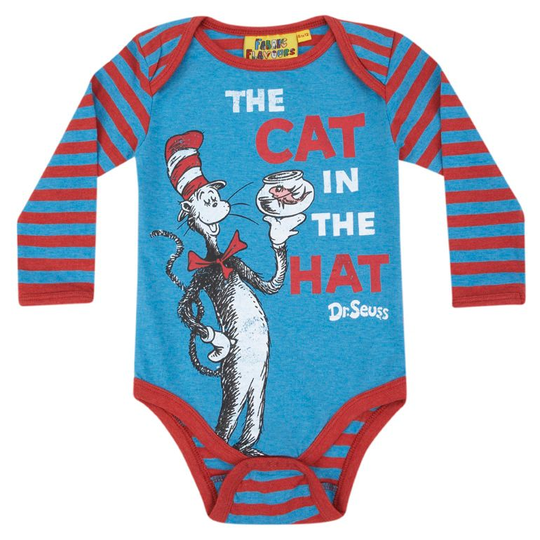 Kid`s Cat In The Hat babygrow