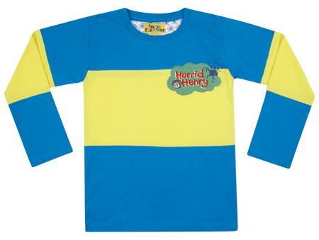 Fabric Flavours Boys Horrid Henry Stripe t-shirt