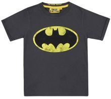 Fabric Flavours Kids Batman logo vintage wash t-shirt