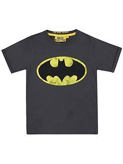 Kids Batman logo vintage wash t-shirt