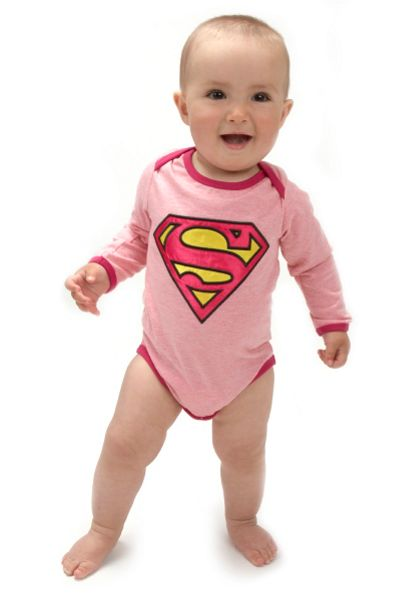 Fabric Flavours Baby Girls Supergirl Logo Bodysuit