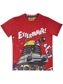 Fabric Flavours Boys Doctor Who Dalek t-shirt