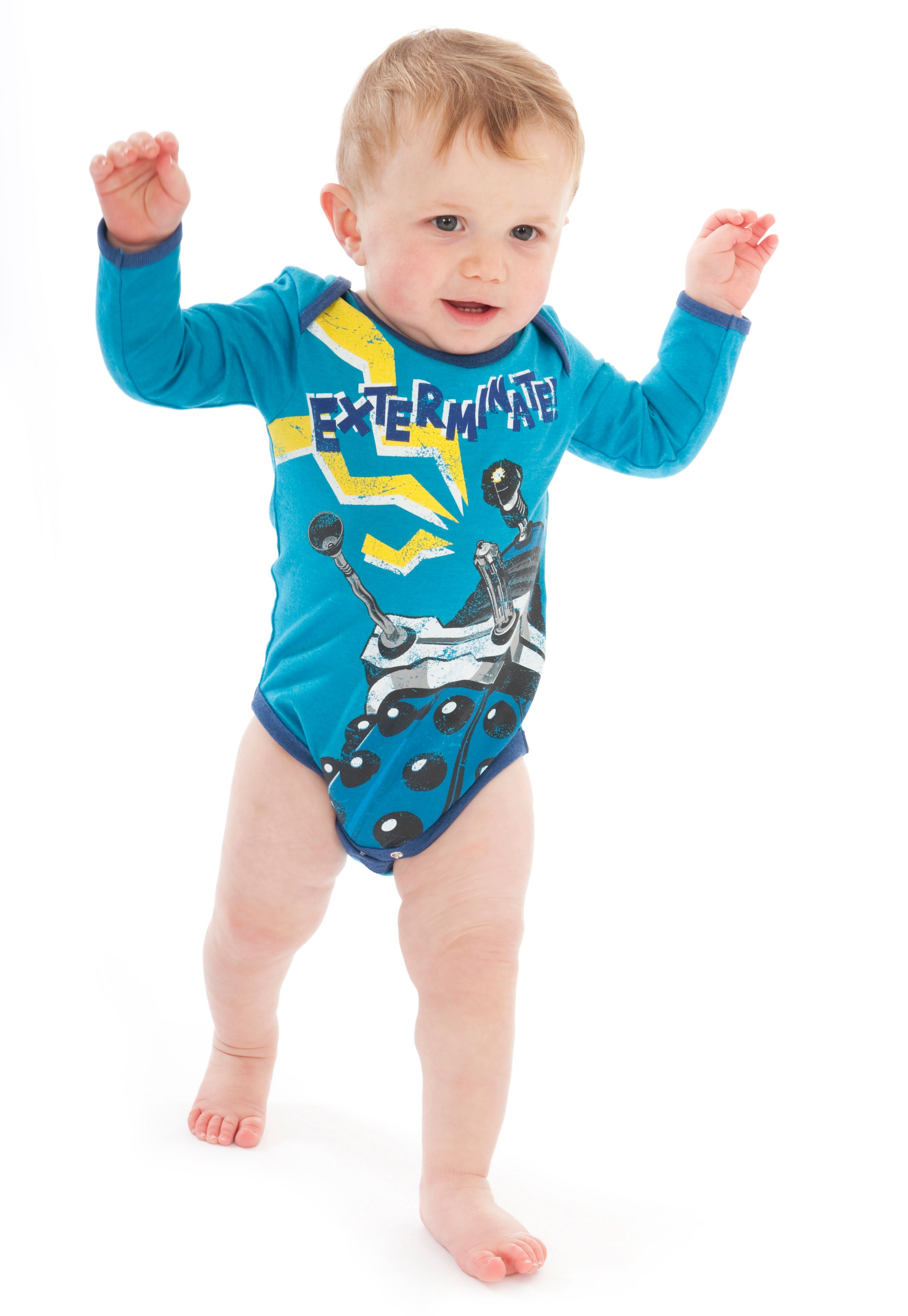 Boy`s Doctor Who `Dalek` babygrow