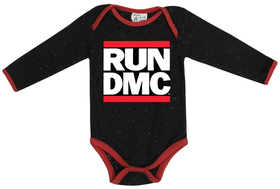 Baby`s Run DMC speckle babygrow