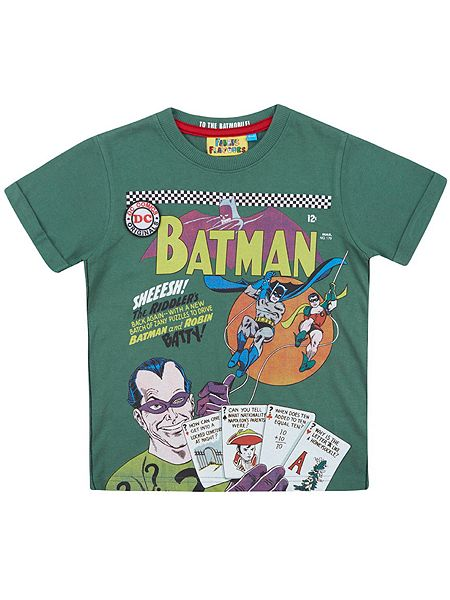 Fabric flavours boys batman riddler t shirt house of fraser for Riddler t shirt with bats