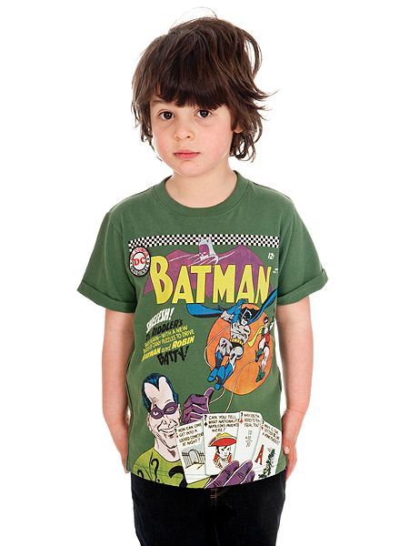 Fabric flavours boys batman riddler t shirt green house for Riddler t shirt with bats