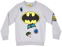 Fabric Flavours Boys Batman logo badge sweatshirt
