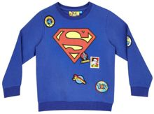 Fabric Flavours Boys Superman logo badge sweatshirt