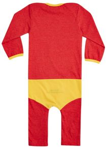 Baby boys bazinga `supersuit` babygrow