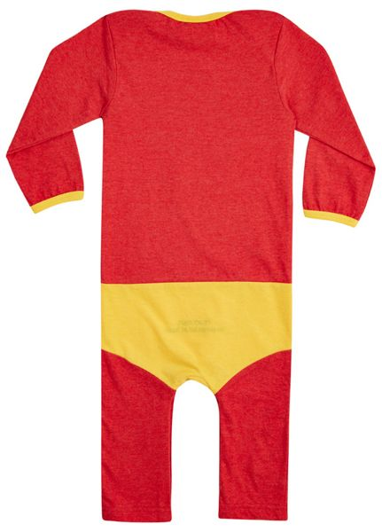 Fabric Flavours Baby boys bazinga `supersuit` babygrow
