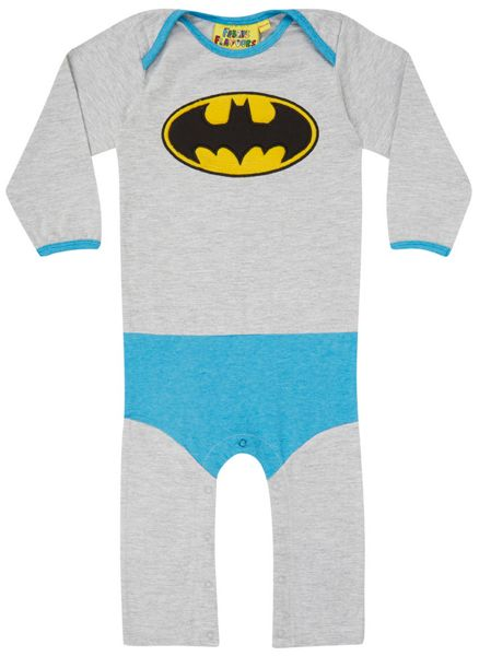 Fabric Flavours Boys Batman `Super Suit` Babygrow