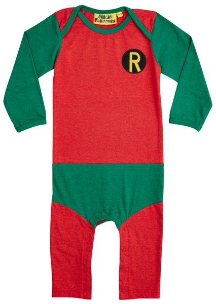Fabric Flavours Boys Robin Supersuit Babygrow