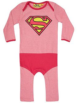 Fabric Flavours Girls Supergirl `Super Suit` Babygrow