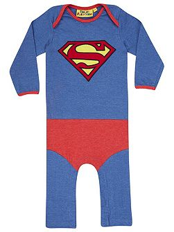 Boys Superman `Super Suit` Babygrow