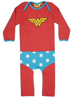 Girls Wonder Woman `Supersuit` Bodysuit
