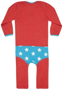 Girls Wonder Woman `Supersuit` Babygrow