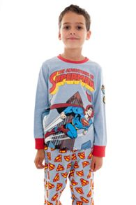 Fabric Flavours Boys superman comic pyjamas