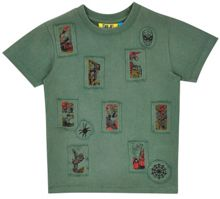 Fabric Flavours Boys Spider-Man Stamp T-Shirt