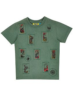 Boys Spider-Man Stamp T-Shirt