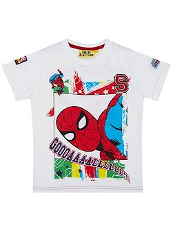 Boys Spider-Man Football T-Shirt