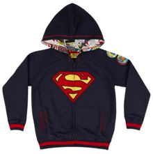 Fabric Flavours Boys superman logo hoodie