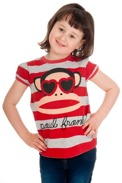 Fabric Flavours Girls Paul Frank T-Shirt