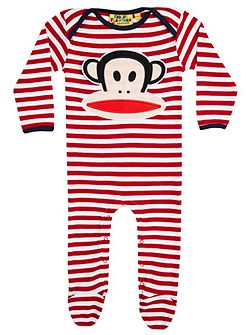 Baby boys paul frank stripe babygrow