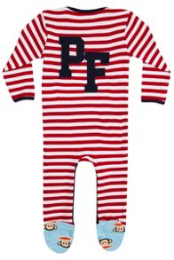 Fabric Flavours Baby boys paul frank stripe babygrow