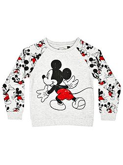 Girls mickey mouse sweatshirt